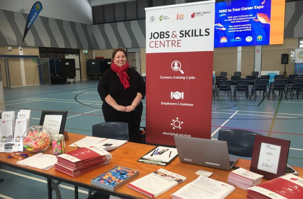 SW's Jobs and Skills Centre team are attending Margaret River High School's Career Expo!